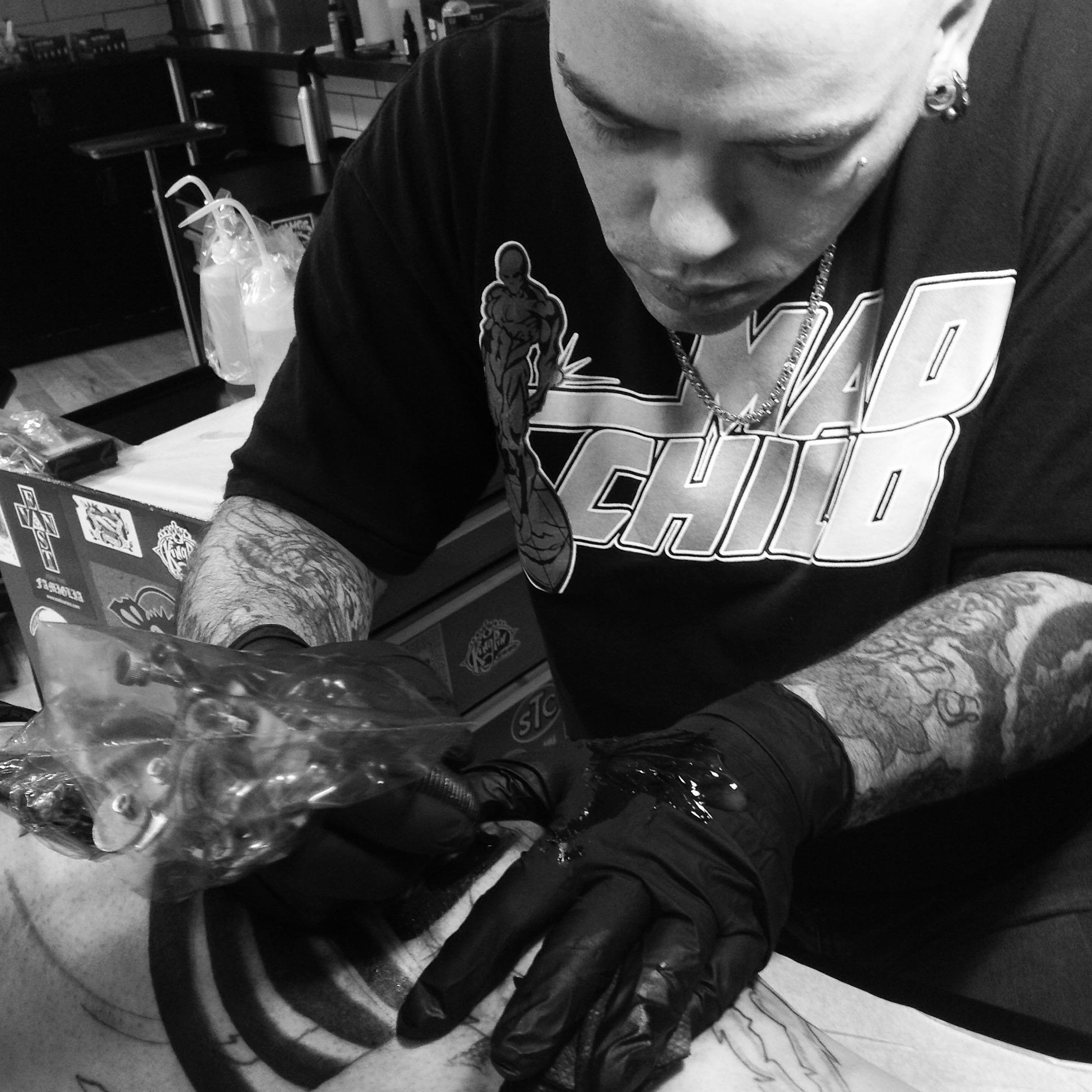 Phil Terris 2019 Okanagan Tattoo Show & Brewfest Artist